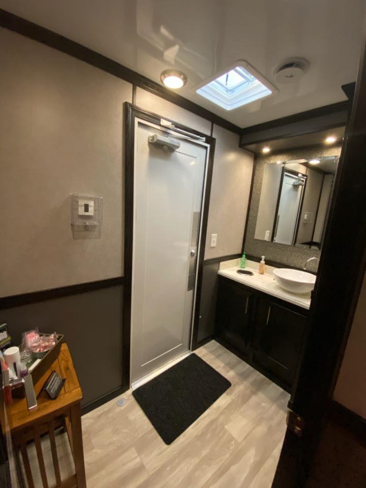 18' Urban Restroom Trailer - Inside View
